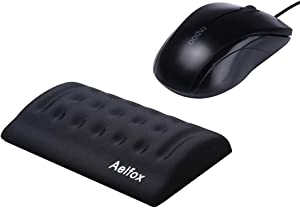 Aelfox Mouse Wrist Rest, Cool Ergonomic Wrist Pad for PC/Gaming/Wireless Mouse in Office, Home Office (Memory Foam, Black)