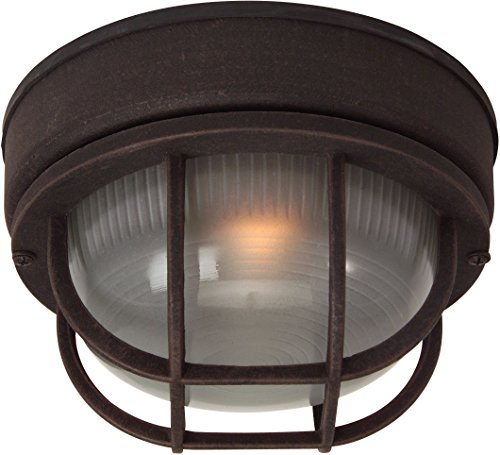 Craftmade Z394-07 Marine Light with Frosted Halophane Glass Shades, Rust Finish ()