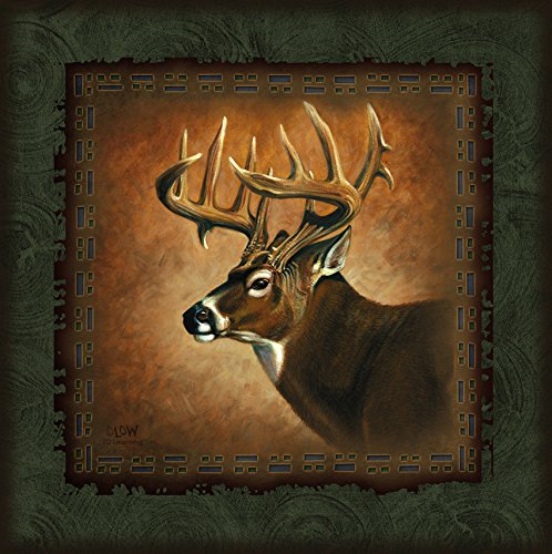 Ode-Rin Art Christmas Gift Prints Painting for Zoo Decor Modern Giclee Artwork Picture of Caribou on Canvas Wooden Frame and Strong Hook Inside Quickly to Hang for Decoration