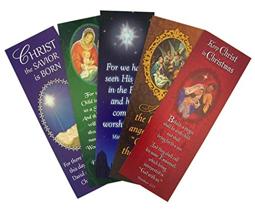 (Catholic Brands Nativity Christ Assorted Holy Card Christmas Bookmark, Pack of 100, 6 Inch (H))