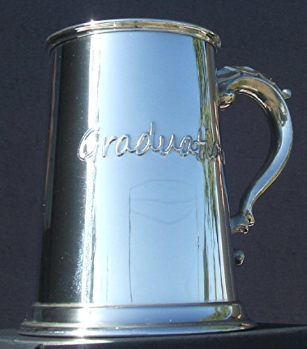 Graduation Fine English Pewter Tankard