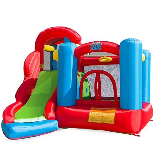 XtremepowerUS Little Kids Inflatable Bounce House Play Center w/ Blower (6 in 1 Play Center) ()