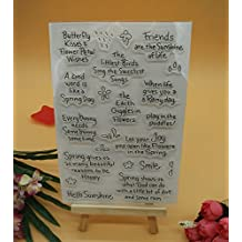 Welcome to Joyful Home 1pc Friends are the sunshine of life Clear Stamp for Card Making Decoration and Scrapbooking