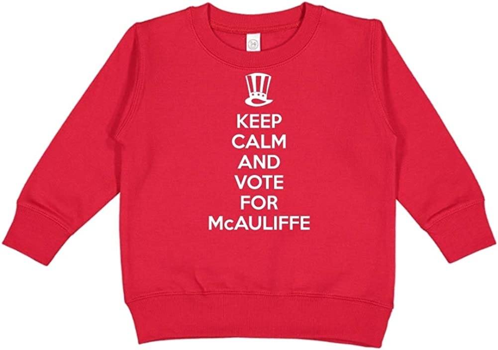 Mashed Clothing Keep Calm /& Vote for McAuliffe Presidential Election 2020 Toddler//Kids Sweatshirt