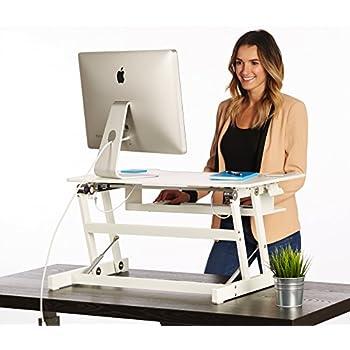 Amazoncom VIVO Height Adjustable Standing Desk Monitor Riser