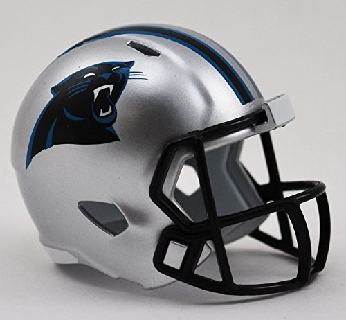Panthers Multi Sport Helmet - Riddell 9585532051 Carolina Panthers Pocket Pro - Speed