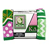 "Kappa Delta 48"" No Sew Fleece Throw Kit Blanket"