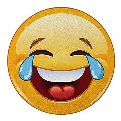 amazon com crying laughing emoji round towel chiffon roundie cry