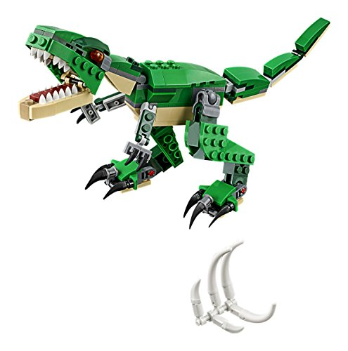 51lJODzHmpL - LEGO Creator Mighty Dinosaurs 31058 Build It Yourself Dinosaur Set, Create a Pterodactyl, Triceratops and T Rex Toy  (174 Pieces)
