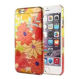 WQQ caso duro gota de lluvia de flores patrón pc hermoso para iphone 6