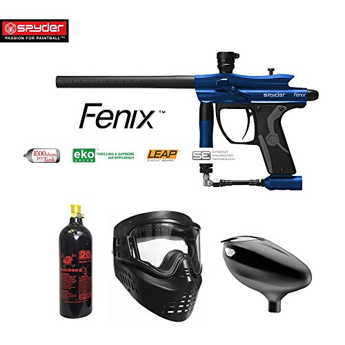 MAddog Spyder Fenix Beginner CO2 Paintball Gun Package - Blue ()
