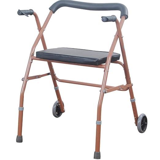 Glumlly Andador discapacitado con polea del Asiento, Andador para ...