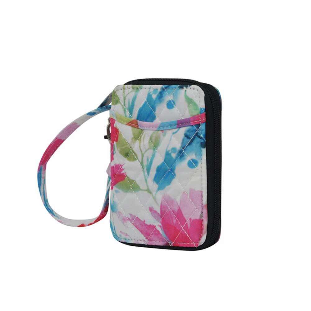 Summer Watercolor NGIL Quilted Wristlet Wallet