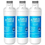 AQUACREST LT1000P Refrigerator Water Filter, Compatible with LG LT1000P, LT1000PC, LT1000PCS, MDJ64844601, ADQ747935, ADQ74793501, ADQ74793502, Kenmore 469980, 9980 (Pack of 3)