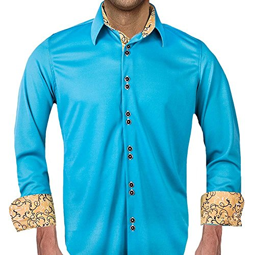 Turquoise Moisture Wicking Dress Shirts - Made in the USA by Anton Alexander
