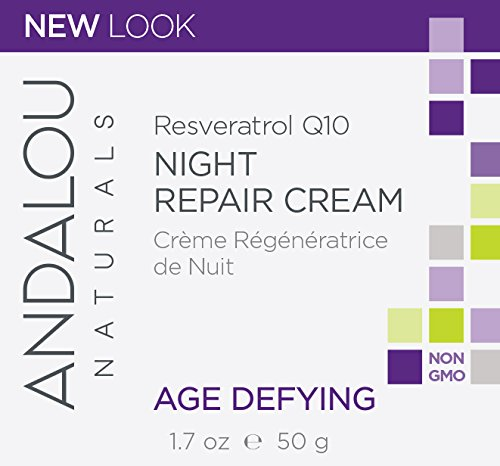 Andalou Naturals Resveratrol Q10 Night Repair Cream, 1.7 oz, For Dry Skin, Fine Lines & Wrinkles, For Softer, Smoother, Younger Looking Skin by Andalou Naturals (Image #2)