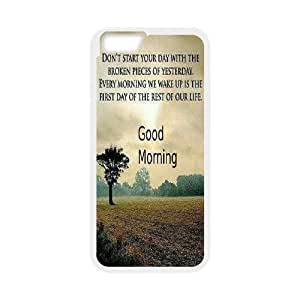 Custom Colorful Case Cover For Apple Iphone 6 Plus 5.5 Inch Good Morning HL-517834