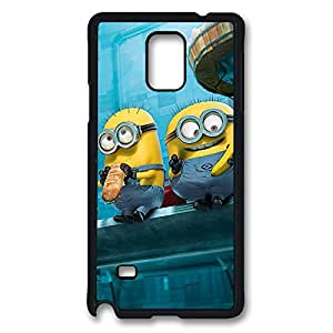 VUTTOO - Note 4 Case High Quality Paradise Minions Despicable Me Cute Hard PC Black Cover Ultimate Protection Samsung Galaxy Note 4