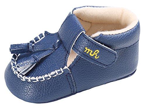 La Vogue Zapatos para Bebé PU Primeros Pasos Antideslizante Primavera Azul