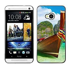 Be Good Phone Accessory // Dura Cáscara cubierta Protectora Caso Carcasa Funda de Protección para HTC One M7 // Tropical Sea Summer Sun Travel