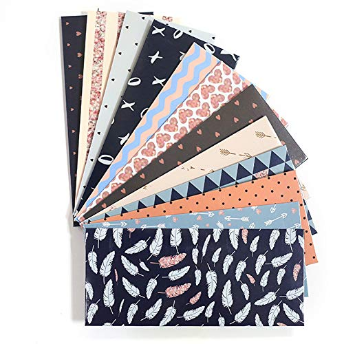 Cash Envelopes,12 Pack Money Envelopes for Cash,With 12 Pcs Budget Planner Blank Form+1 Pcs Sticker Paper Free Reusable Budget Envelopes for Budgeting Cute Cash Envelope System - Blue Dl Cream Label