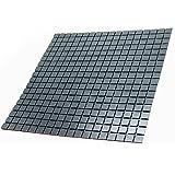 "YIZUNNU Self Adhesive Mosaic Aluminum Tile Kitchen Bathroom Backsplash Peel Stick 11.8""x11.8""/30cmx30cm"