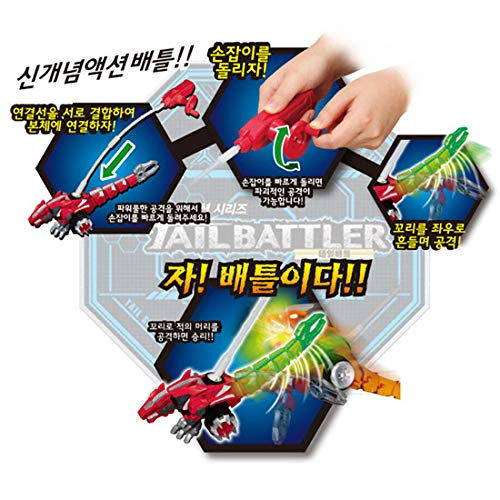 Tail Battler Dinosaurs Spinning Top Attack Spinning Head and Tail Forest Monster + Spark Liner (Set of 2) by Tail Battler (Image #6)