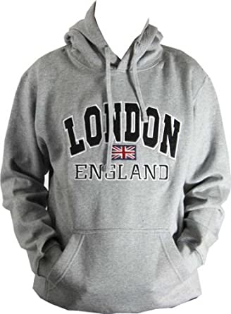 New White Cotton Sweatshirt United Kingdom London Uk Sport-kapuzenpullis & -sweatshirts