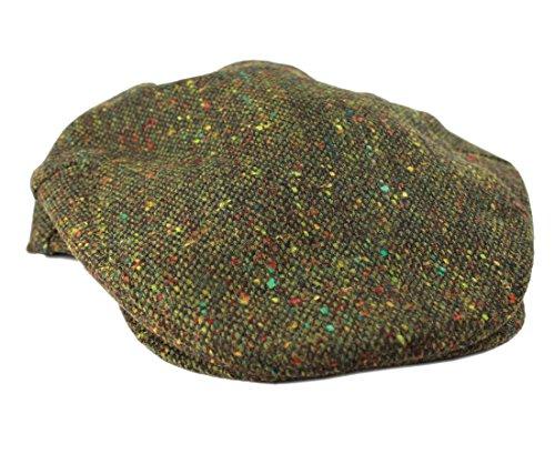 UPC 813411022789, Irish Tweed Flat Cap Green Fleck !00% Wool John Hanly & Co. Made in Ireland XL Cap