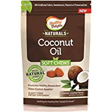 Healthy Delights Naturals, Coconut Oil Soft Chews, 500 mg of Coconut Oil, Controls Appetite, Promotes Healthy Metabolism, Delicious Coconut Flavor, 30 Count