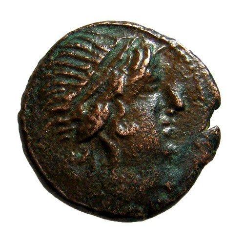 (Mesembria Thrace 3rd-2nd century BC. ATHENA Promachos)