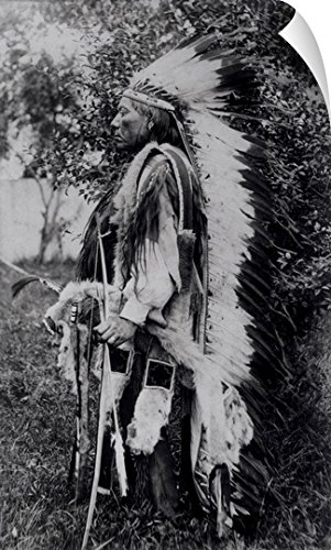 American School Wall Peel Wall Art Print entitled White Wolf, a Comanche Chief, (Comanche Indian Costumes)