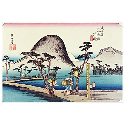 GREATBIGCANVAS Poster Print Entitled Scenery of Hiratsuka in Edo Period, Painting, Woodcut, Japanese Wood Block Print by 18