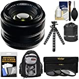 Fujifilm 35mm f/1.4 XF R Lens with 3 UV/CPL/ND8 Filters + Backpack + Tripod Kit for X-A2, X-E2, X-E2s, X-M1, X-T1, X-T10, X-Pro2 Cameras