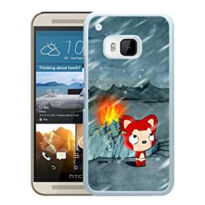 Popular HTC ONE M9 Cover Case ,Cartoon Xperia Z Wallpapers 184 White HTC ONE M9 Phone Case Fashion And Unique Design Cover Case