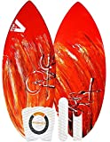 Skimboard / Wakesurf Board, Fiberglass/Carbon Fiber Avac by Apex, 160 to 210lbs, Choose Size/Design, Bundled with Fedmax Ultimate Tips and Tricks Guide, Skim Board for Kids/Adults. Design 4, 51 In.