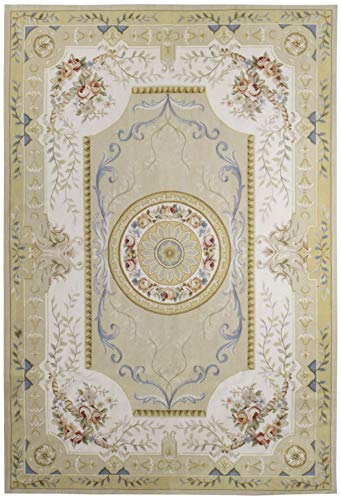 - European Aubusson Rug (Wool) - 9' x 12'