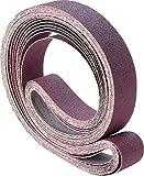 PFERD 49159 Backstand Abrasive Belt, Aluminum Oxide A, 132'' Length x 2'' Width, 36 Grit (Pack of 10)