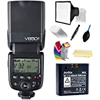 Godox Ving V850II GN60 2.4G 1/8000s HSS Camera Flash Speedlight ,1.5s recycle time & 650 Full Power Pops with 2000mAh Li-ion Battery for Canon Nikon Pentax Olympas