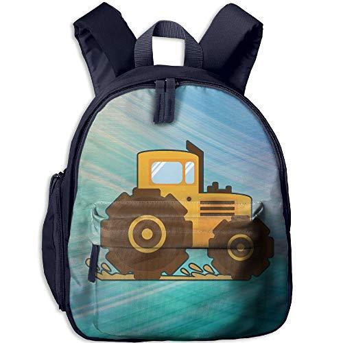 Kindergarten Boys Girls Backpack Tractor School Bag -