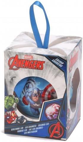 Palla luminosa di Natale Avengers 7.5 cm