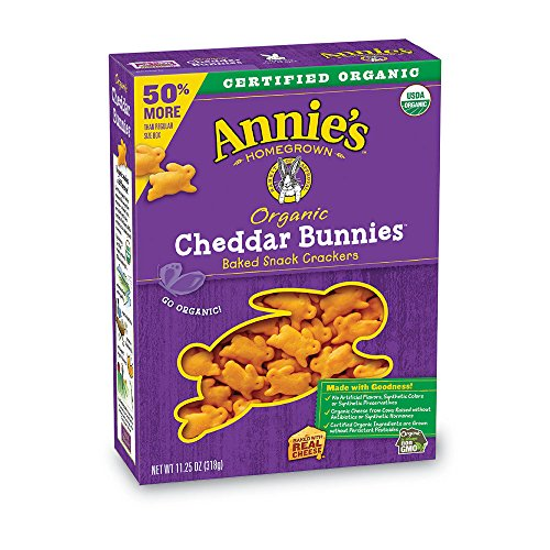 Annie's Organic Cheddar Bunnies Baked Snack Crackers, 11.25 - Baked Bunnies Crackers Snack