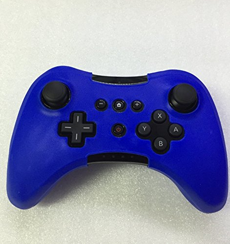 (Protectiver Soft Silicone Skin Case Cover For Wii U Pro Controller Wireless Rubber Case-Blue)