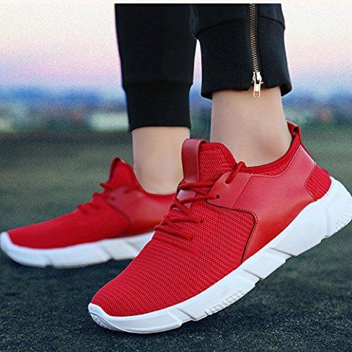 Unisexes Pour Sport Course Hommes Rouge Pied Chaussures Transer De 0OwfCqq