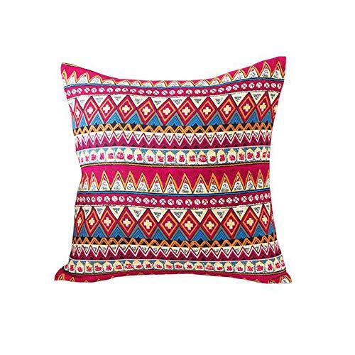 MeMoreCool Bohemian Ethnic Style Cotton Throw Pillow Cover,Fashion Stripes Sofa Cushion Cover,Boho Decor Pillowcase 18x18 - Uses for Sofa/Chair/Bed
