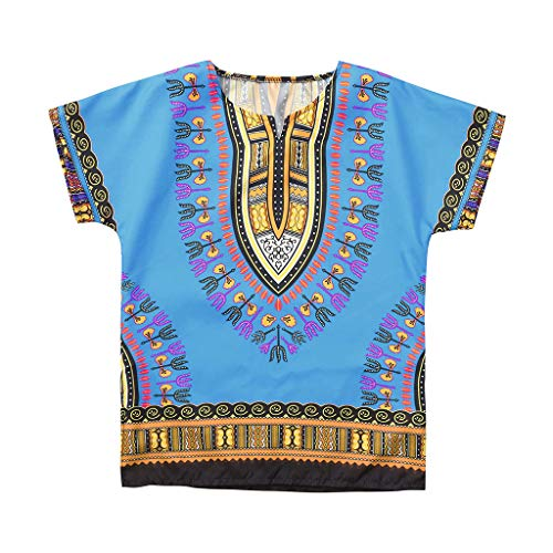 Kids Baby Unisex Bright African Colour Cotton Shirt Big Boys Girls Dashiki T Shirt Tee Tops 2-7T ()