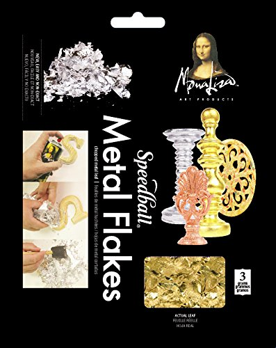 Speedball 10009 Mona Lisa Gold Flakes - Composition Metal Leafing Flakes - 3 Gram Pack
