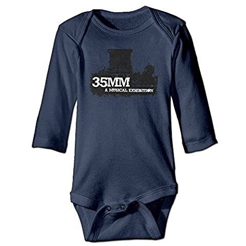 DW Infant 35mm Long Sleeve Climb Clothes Romper Navy 24 Months - Discovery Viewer