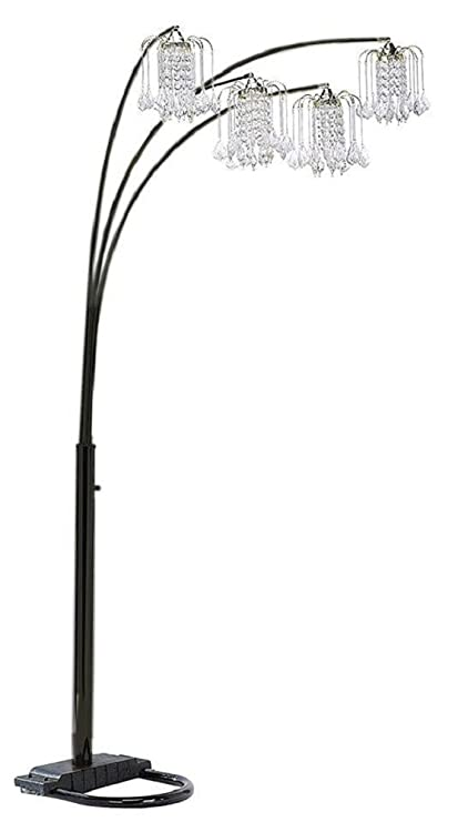 84 Inch 3 Light Crystal Inspirational Arch Floor Lamp