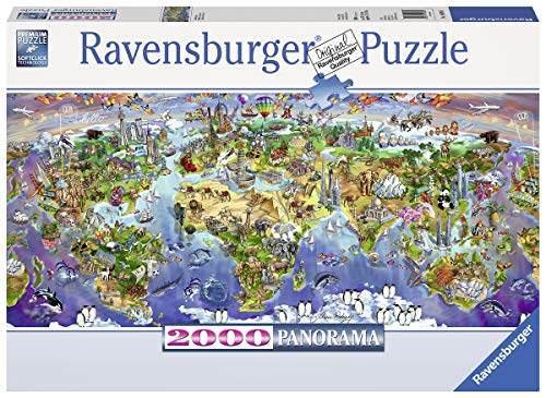 Ravensburger World Wonders Panorama 2000 Piece Jigsaw Puzzle for Adults - Softclick Technology Means Pieces Fit Together Perfectly